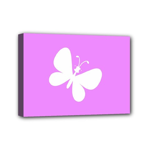 Butterfly Mini Canvas 7  x 5  (Framed)