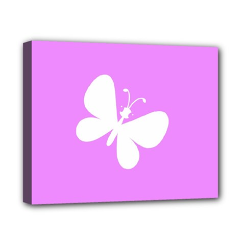 Butterfly Canvas 10  X 8  (framed)
