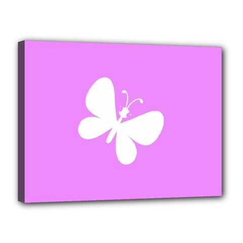Butterfly Canvas 16  x 12  (Framed)