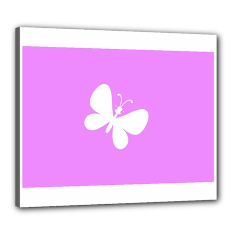 Butterfly Canvas 24  x 20  (Framed)