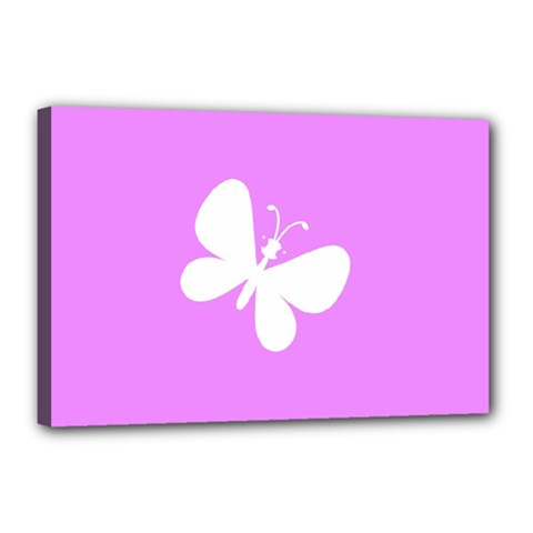 Butterfly Canvas 18  x 12  (Framed)