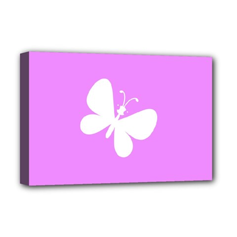 Butterfly Deluxe Canvas 18  x 12  (Framed)