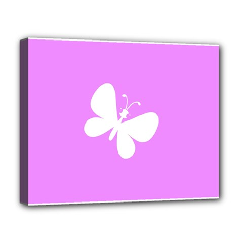 Butterfly Deluxe Canvas 20  x 16  (Framed)