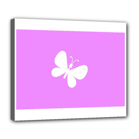 Butterfly Deluxe Canvas 24  x 20  (Framed)