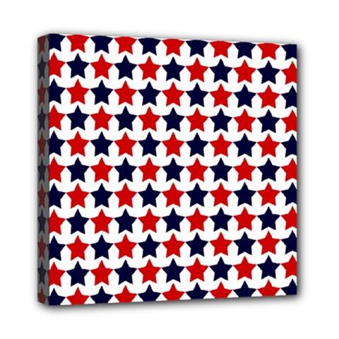 Patriot Stars Mini Canvas 8  X 8  (framed)