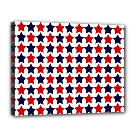 Patriot Stars Canvas 14  x 11  (Framed)