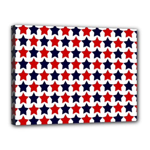 Patriot Stars Canvas 16  x 12  (Framed)
