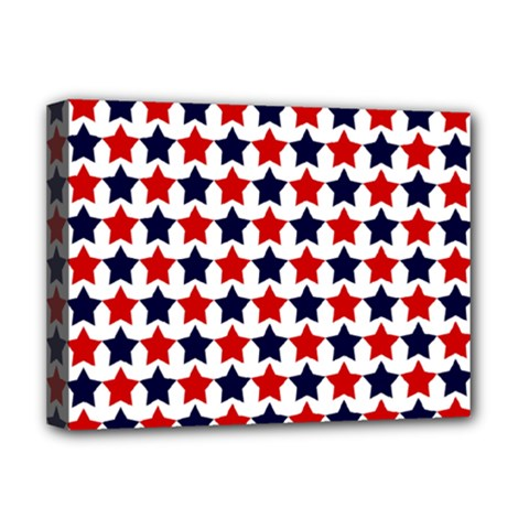 Patriot Stars Deluxe Canvas 16  X 12  (framed)