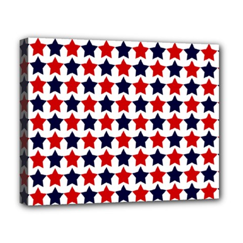 Patriot Stars Deluxe Canvas 20  x 16  (Framed)