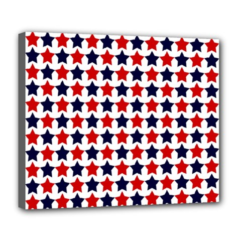 Patriot Stars Deluxe Canvas 24  x 20  (Framed)