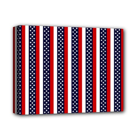 Patriot Stripes Deluxe Canvas 14  X 11  (framed)