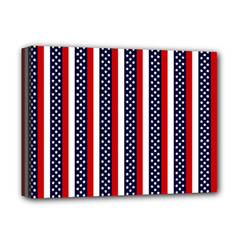 Patriot Stripes Deluxe Canvas 16  X 12  (framed)