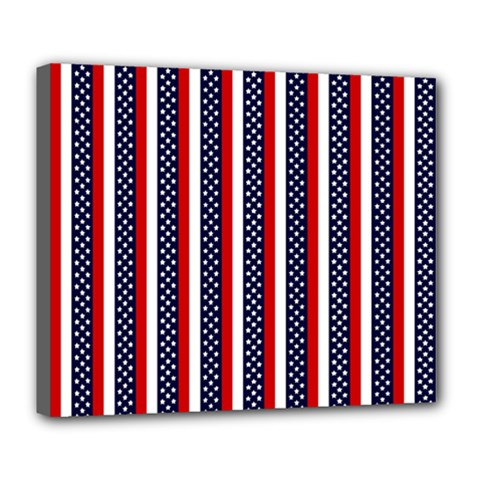 Patriot Stripes Deluxe Canvas 24  x 20  (Framed)