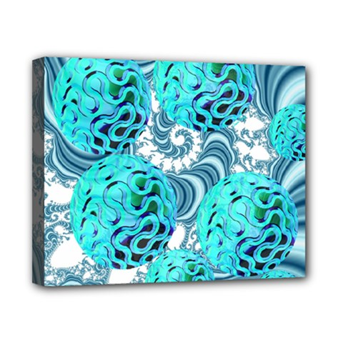 Teal Sea Forest, Abstract Underwater Ocean Canvas 10  X 8  (framed)