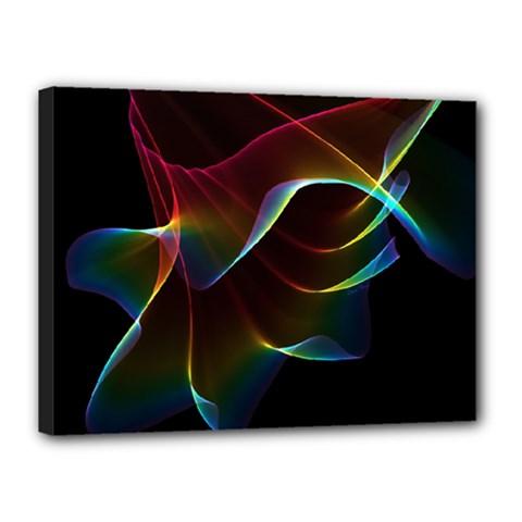Imagine, Through The Abstract Rainbow Veil Canvas 16  x 12  (Framed)
