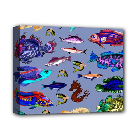 Fishy Deluxe Canvas 14  x 11  (Framed)