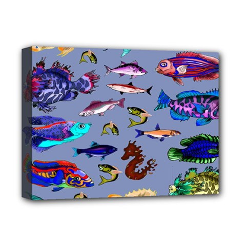 Fishy Deluxe Canvas 16  x 12  (Framed)