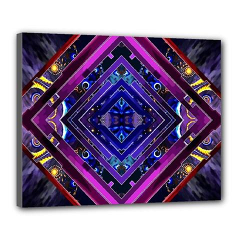 Galaxy Canvas 20  X 16  (framed)