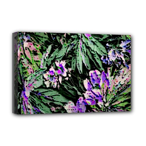 Garden Greens Deluxe Canvas 18  X 12  (framed)