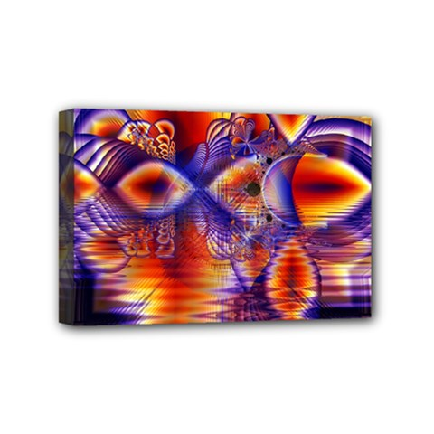 Winter Crystal Palace, Abstract Cosmic Dream Mini Canvas 6  x 4  (Stretched)