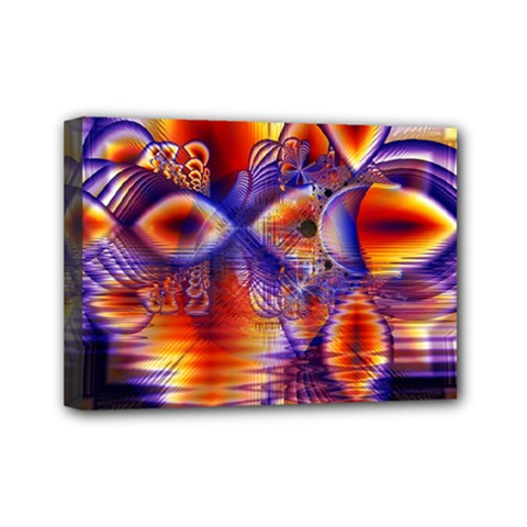Winter Crystal Palace, Abstract Cosmic Dream Mini Canvas 7  X 5  (stretched)