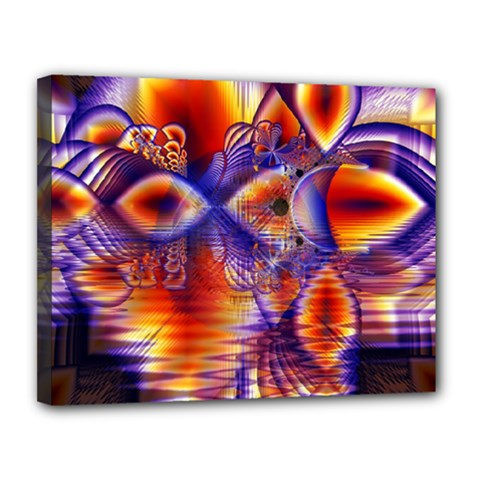 Winter Crystal Palace, Abstract Cosmic Dream Canvas 14  x 11  (Stretched)