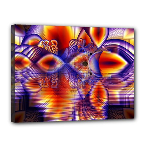 Winter Crystal Palace, Abstract Cosmic Dream Canvas 16  X 12  (stretched)