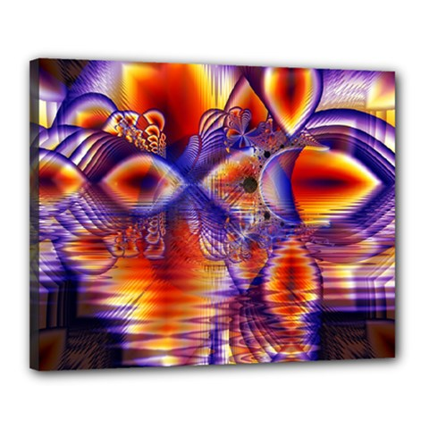 Winter Crystal Palace, Abstract Cosmic Dream Canvas 20  x 16  (Stretched)