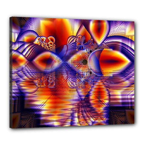 Winter Crystal Palace, Abstract Cosmic Dream Canvas 24  X 20  (stretched)