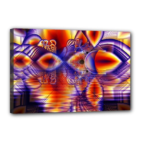 Winter Crystal Palace, Abstract Cosmic Dream Canvas 18  x 12  (Stretched)