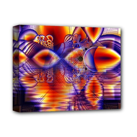 Winter Crystal Palace, Abstract Cosmic Dream Deluxe Canvas 14  x 11  (Stretched)
