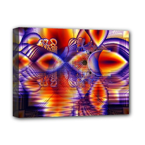 Winter Crystal Palace, Abstract Cosmic Dream Deluxe Canvas 16  x 12  (Stretched)