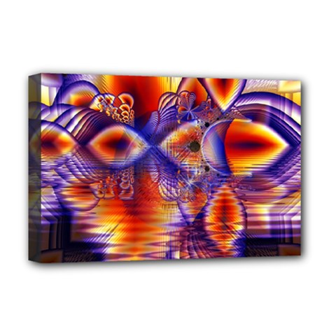 Winter Crystal Palace, Abstract Cosmic Dream Deluxe Canvas 18  x 12  (Stretched)