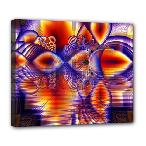 Winter Crystal Palace, Abstract Cosmic Dream Deluxe Canvas 24  X 20  (stretched)