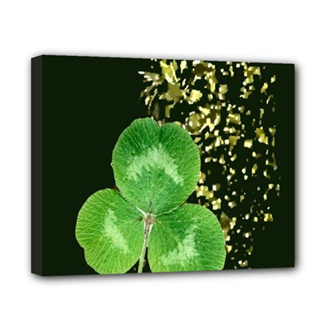 Clover Canvas 10  x 8  (Framed)