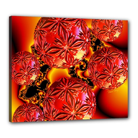 Flame Delights, Abstract Red Orange Canvas 24  x 20  (Framed)