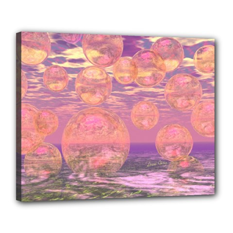 Glorious Skies, Abstract Pink And Yellow Dream Canvas 20  x 16  (Framed)