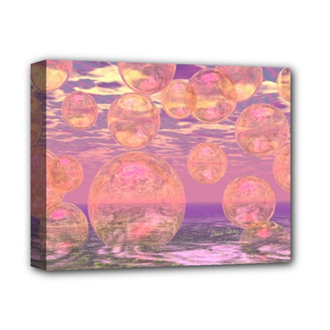 Glorious Skies, Abstract Pink And Yellow Dream Deluxe Canvas 14  x 11  (Framed)