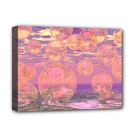 Glorious Skies, Abstract Pink And Yellow Dream Deluxe Canvas 16  X 12  (framed)