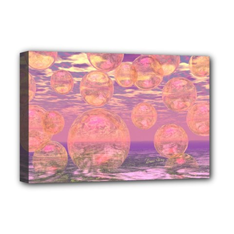 Glorious Skies, Abstract Pink And Yellow Dream Deluxe Canvas 18  x 12  (Framed)