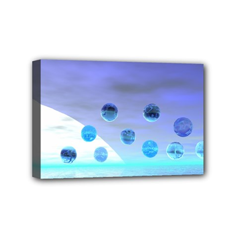 Moonlight Wonder, Abstract Journey To The Unknown Mini Canvas 6  x 4  (Framed)