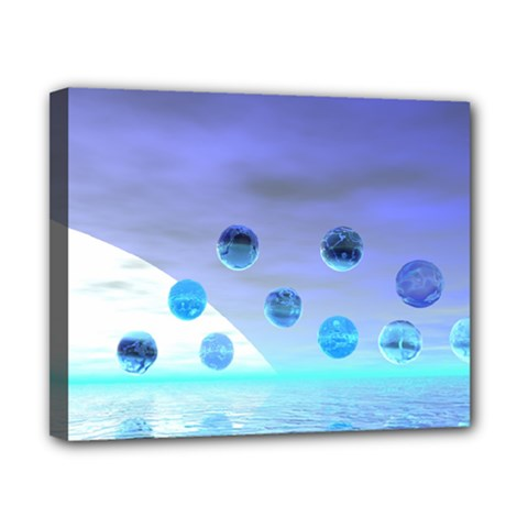 Moonlight Wonder, Abstract Journey To The Unknown Canvas 10  x 8  (Framed)