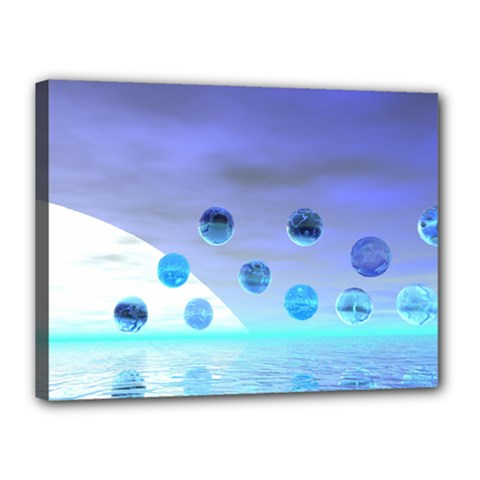 Moonlight Wonder, Abstract Journey To The Unknown Canvas 16  x 12  (Framed)