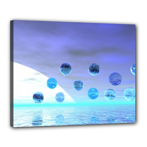 Moonlight Wonder, Abstract Journey To The Unknown Canvas 20  x 16  (Framed)