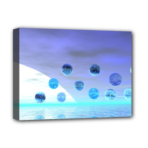 Moonlight Wonder, Abstract Journey To The Unknown Deluxe Canvas 16  x 12  (Framed)