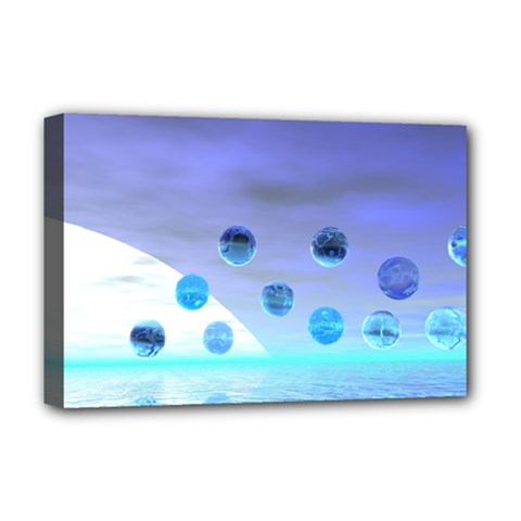 Moonlight Wonder, Abstract Journey To The Unknown Deluxe Canvas 18  X 12  (framed)