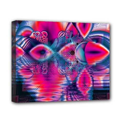 Cosmic Heart of Fire, Abstract Crystal Palace Canvas 10  x 8  (Framed)
