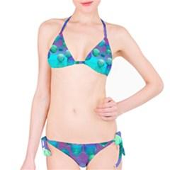 Ocean Dreams, Abstract Aqua Violet Ocean Fantasy Bikini