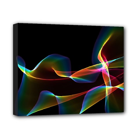 Fluted Cosmic Rafluted Cosmic Rainbow, Abstract Winds Canvas 10  x 8  (Framed)