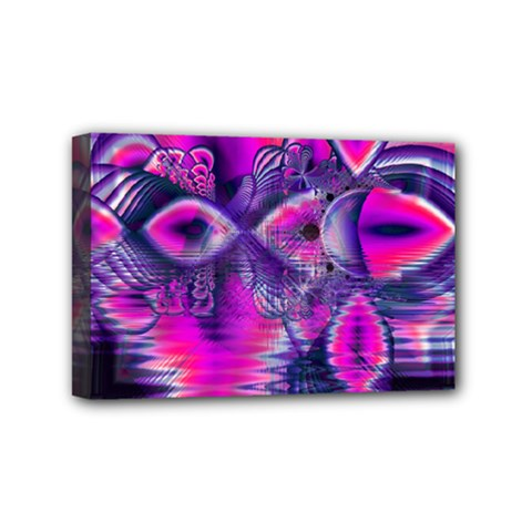 Rose Crystal Palace, Abstract Love Dream  Mini Canvas 6  X 4  (framed)